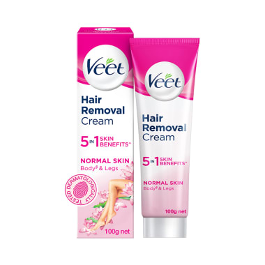 Veet Silk & Fresh Hair Removal Cream for Sensitive Skin: Buy tube of 100 gm  Cream at best price in India | 1mg
