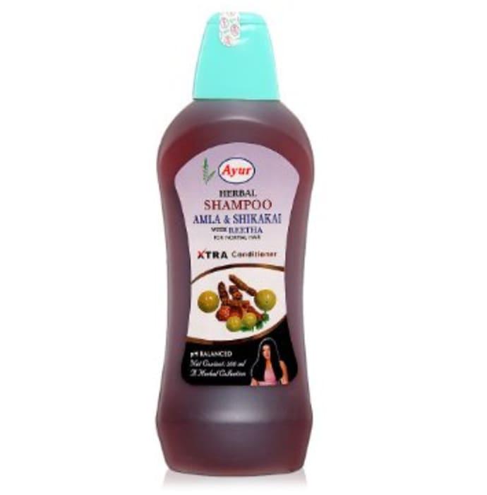 Ayur Herbal Amla Shikakai Shampoo