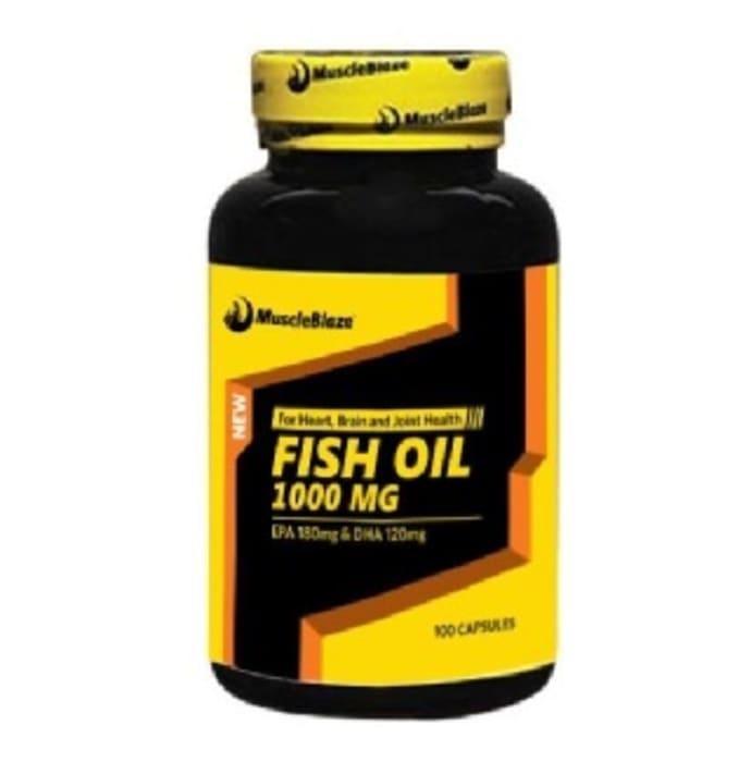 MuscleBlaze Fish Oil Soft Gelatin Capsule