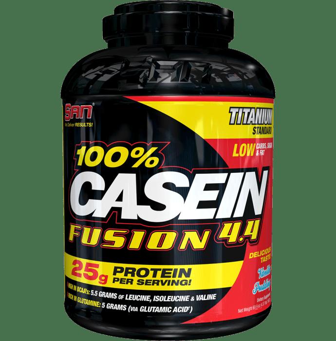 SAN 100% Casein Fusion 4.4 Powder Vanilla Pudding