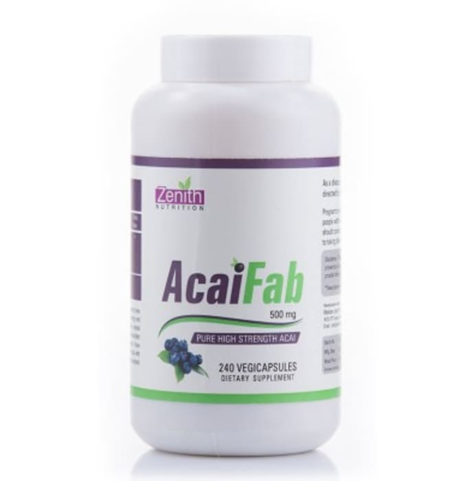 Zenith Nutrition Acai Fab  500mg Capsule