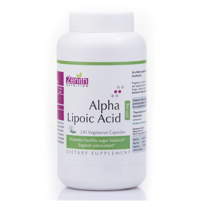 Zenith Nutrition Alpha Lipoic Acid  300mg Capsule