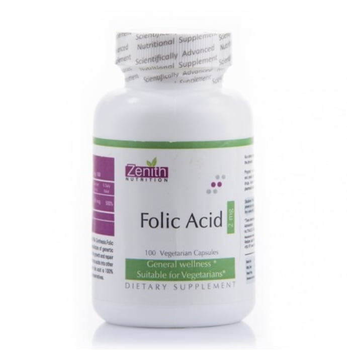 Zenith Nutrition Folic Acid 2mg Capsule