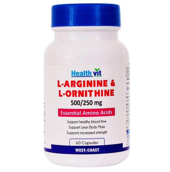 HealthVit L- Arginine - Ornithine  500mg/250 mg Tablet