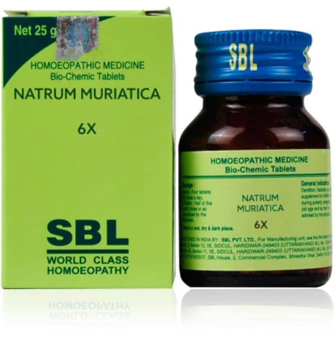 SBL Natrum Muriatica Biochemic Tablet 6X