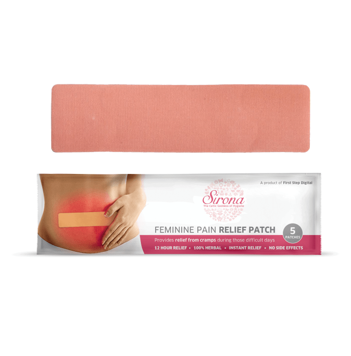 Sirona Feminine Pain Relief Patch
