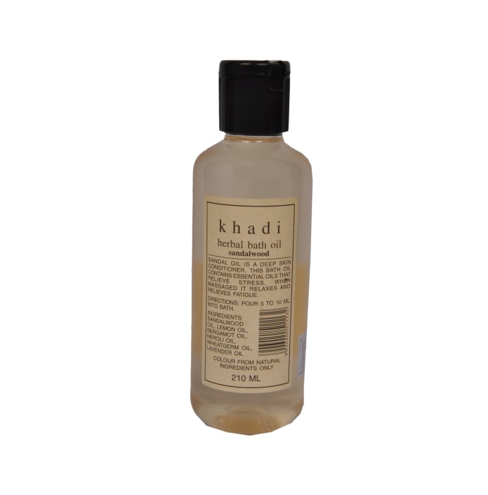 Khadi Naturals Herbal Bath Oil Sandalwood