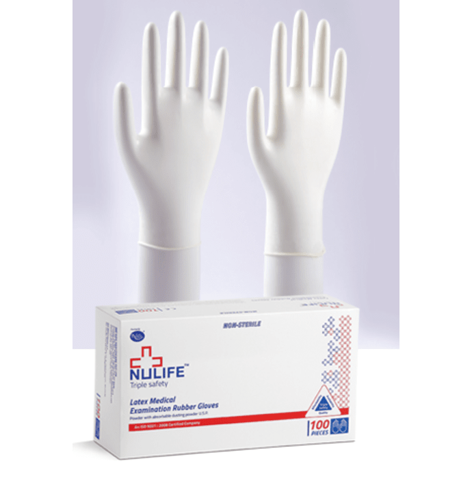 Nulife Latex Medical Examination Powdered Gloves XS