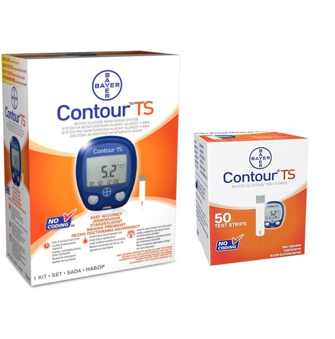 Bayer Contour TS Blood Glucose Meter with Free 50 TS Blood Glucose Test Strip