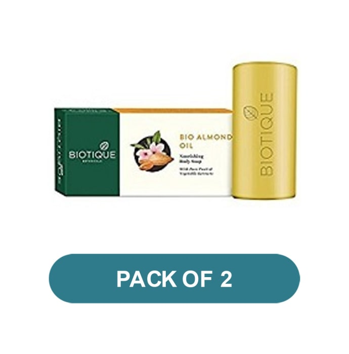 Biotique Almond Oil Nourishing Body  Soap Pack of 2