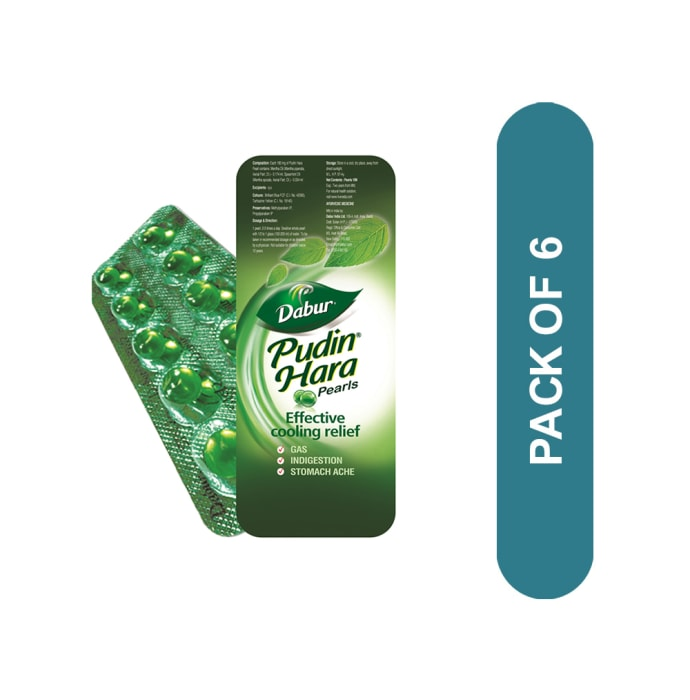 Dabur Pudin Hara Pearls Pack of 6