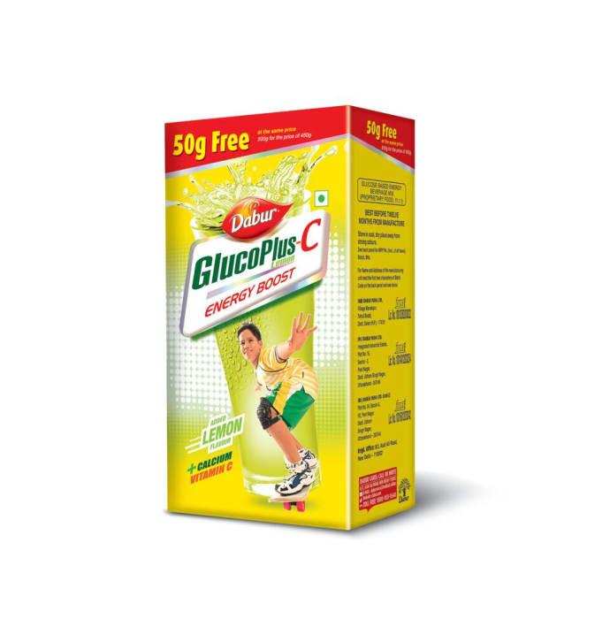Dabur Glucoplus C 450gm + 50gm free Powder Lemon