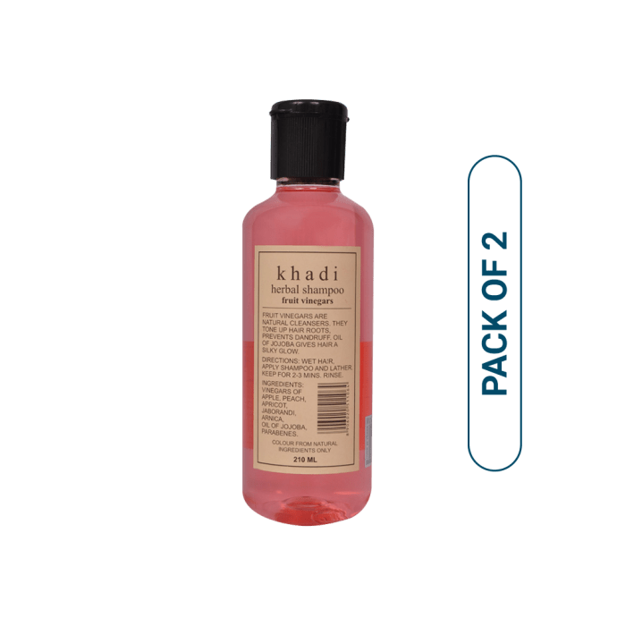 Khadi Naturals Herbal Shampoo With Fruit Vinegars Pack of 2