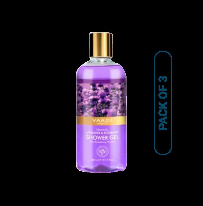 Vaadi Herbals Value Pack of Heavenly Lavender & Rosemary Shower Gel Pack of 3