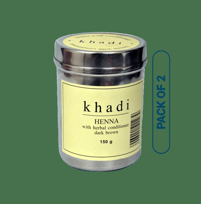 Khadi Naturals Heena With Herbal Conditioner Pack of 2