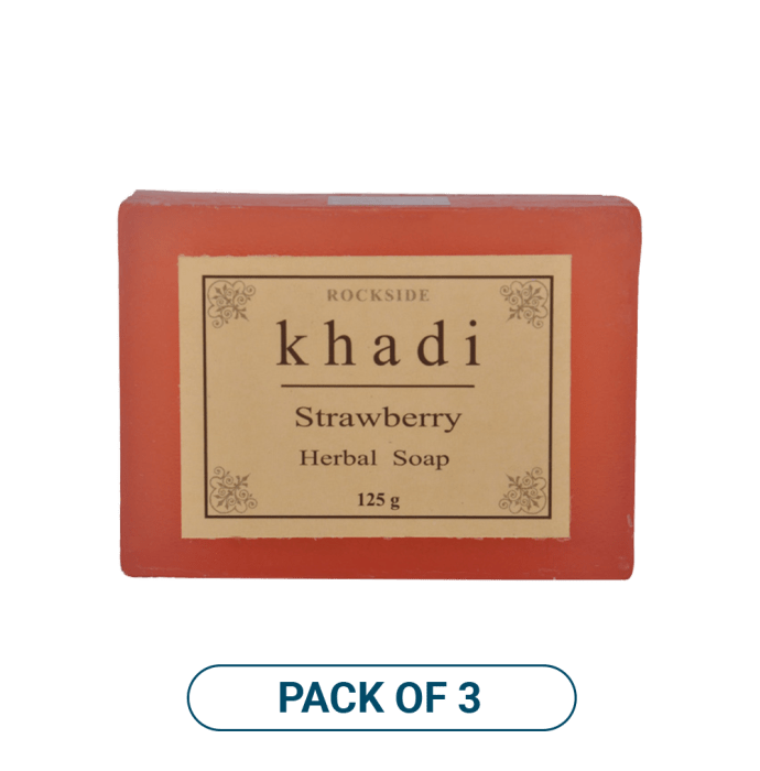Khadi Naturals Strawberry  Soap Pack of 3