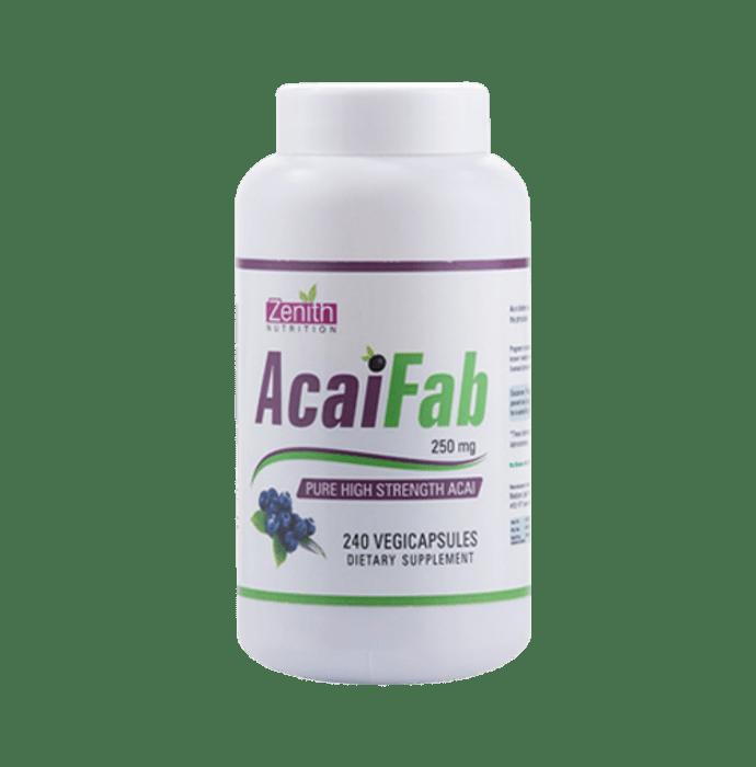 Zenith Nutrition  Acai Fab  250mg Capsule