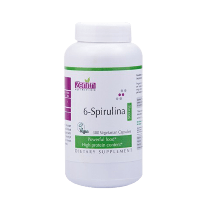 Zenith Nutrition 6-Spirulina  500mg Capsule