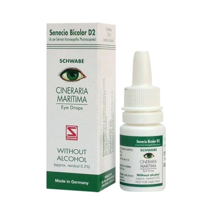 Dr Willmar Schwabe Germany Cineraria Maritima without Alcohol Eye Drop