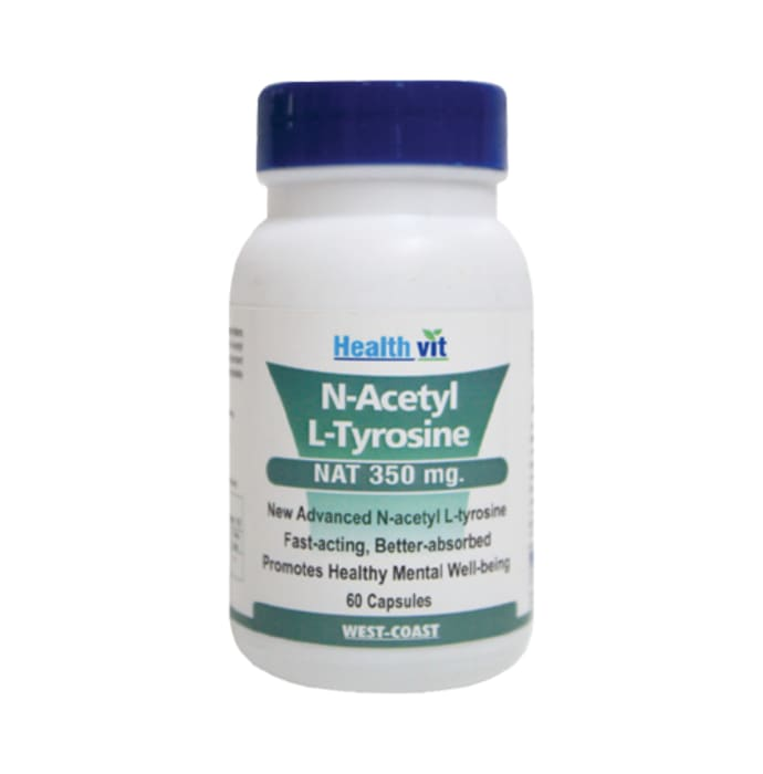 HealthVit N- Acetyl & L -Tyrosine 350mg Capsule