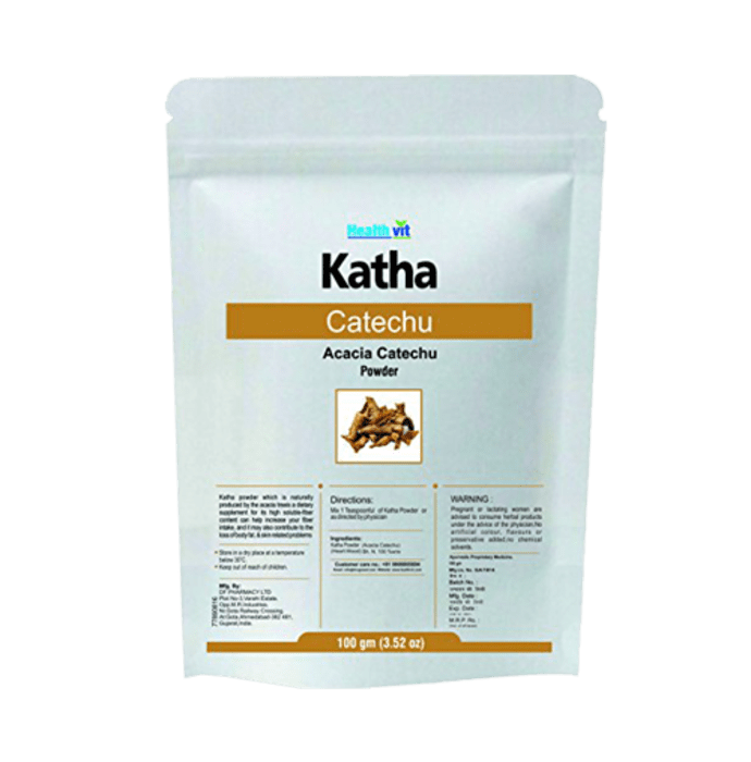 HealthVit Katha (Catechu) Powder