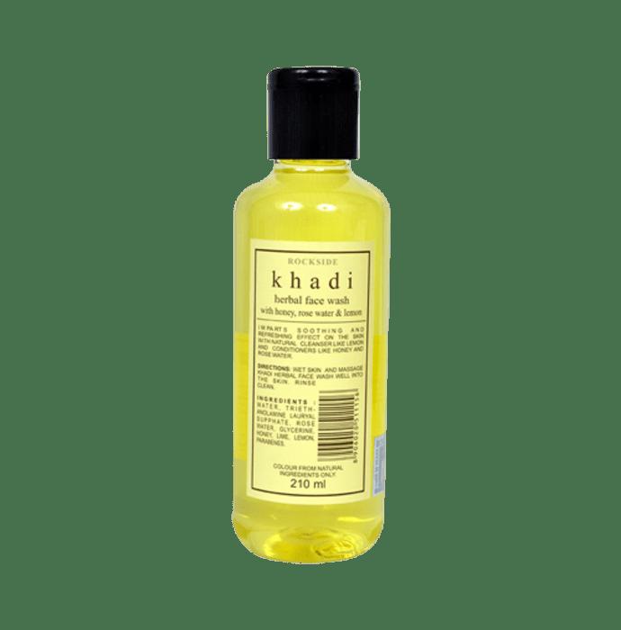 Khadi Naturals Herbal Face Wash With Honey, Rose Water & Lemon