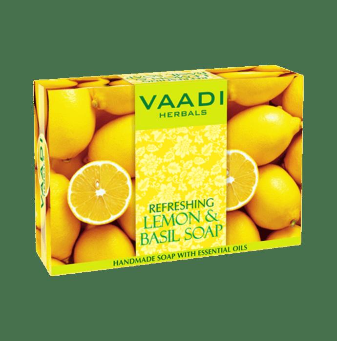 Vaadi Herbals Value Pack of 3 Refreshing Lemon & Basil Soap (75gm Each)