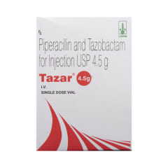 Tazar 4.5g Injection: View Uses, Side Effects, Price and Substitutes | 1mg