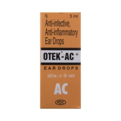 Otek-AC Plus Ear Drop: View Uses, Side Effects, Price and Substitutes | 1mg
