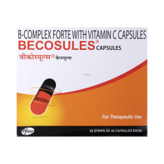Becosules Capsule: Buy strip of 20 capsules at best price in India | 1mg