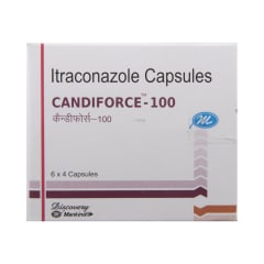 Candiforce 100 Capsule: View Uses, Side Effects, Price and Substitutes | 1mg