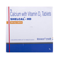 Shelcal - HD Tablet: Buy strip of 15 tablets at best price in India | 1mg