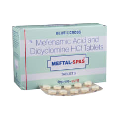 Meftal-Spas Tablet: View Uses, Side Effects, Price and Substitutes | 1mg