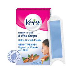 Veet Face Precision Waxing Kit Buy Box Of 8 Strips At Best Price In India 1mg