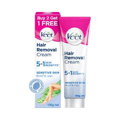 Veet Women Hair Removal Cream 100gm Each Buy 2 Get 1 Free Sensitive Skin Buy Combo Pack Of 3 Tubes At Best Price In India 1mg