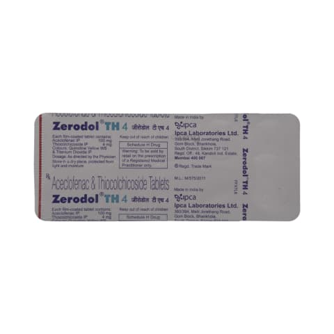 Zerodol TH 4 Tablet: View Uses, Side Effects, Price and Substitutes | 1mg