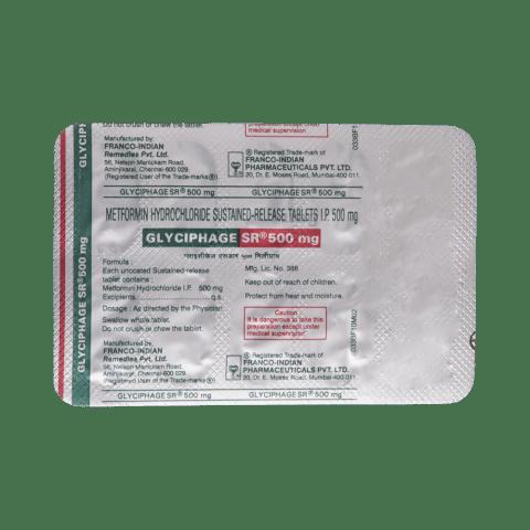 Glyciphage sr 500mg side effects lisinopril