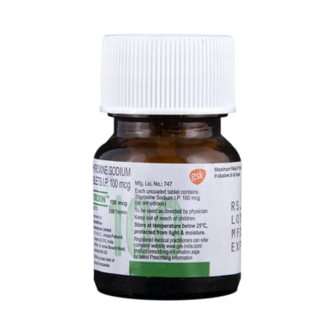 Eltroxin 100mcg Tablet View Uses Side Effects Price And