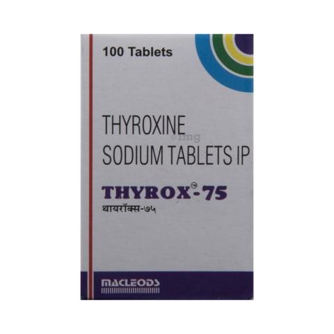 Thyrox 75 Tablet In Hindi क ज नक र ल भ फ यद