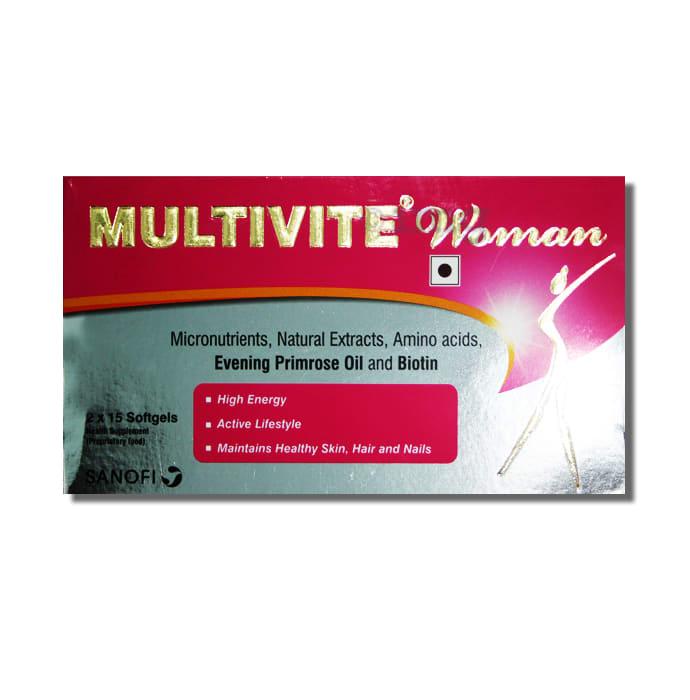 Multivite Woman Health Supplement Softgel
