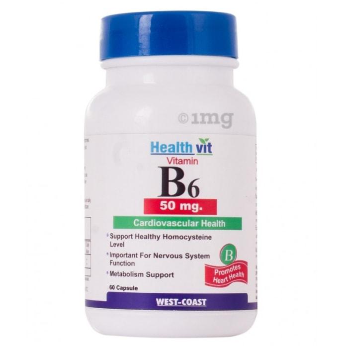 HealthVit Vitamin B6 50mg  Capsule