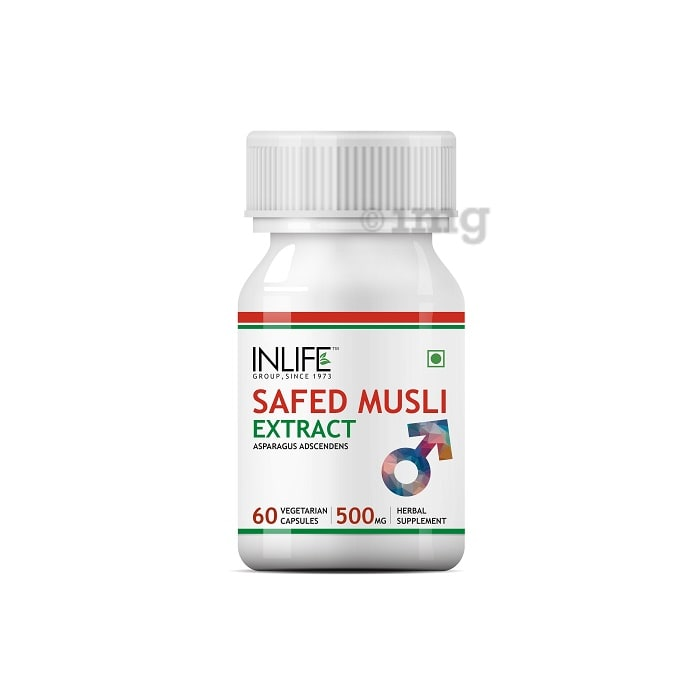 Inlife Safed Musli Extract 500mg Capsule