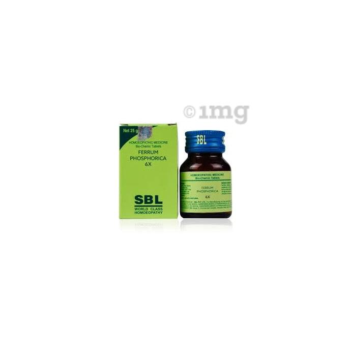 SBL Ferrum Phosphoricum Biochemic Tablet 6X
