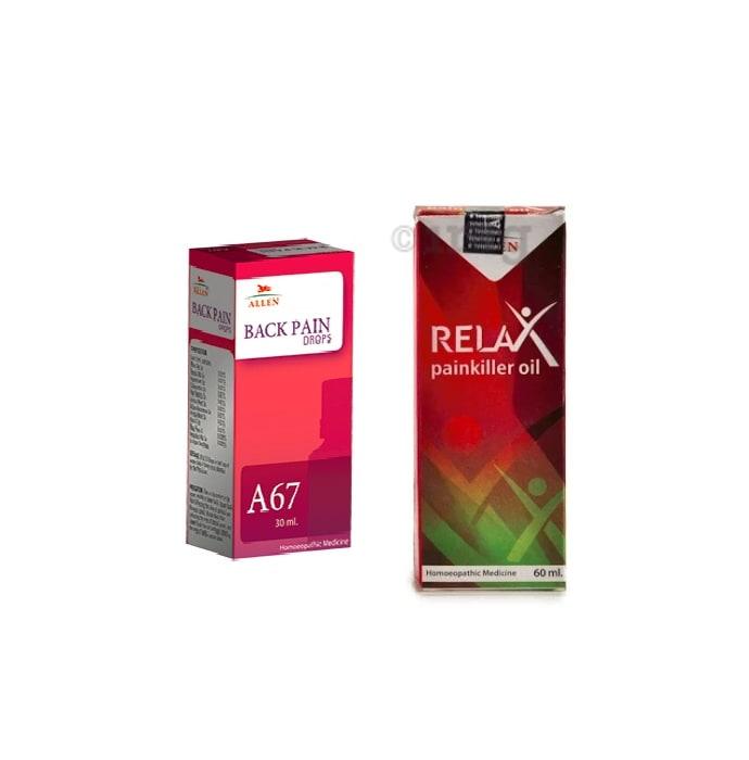 Allen Back Pain Care Combo (A67 + Relax Pain Killer Oil)