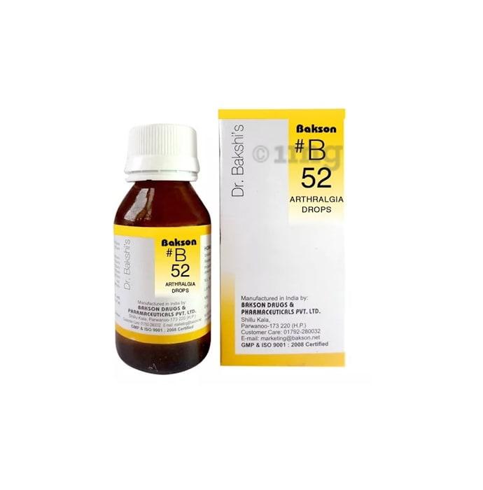 Bakson's B52 Arthralgia Drop