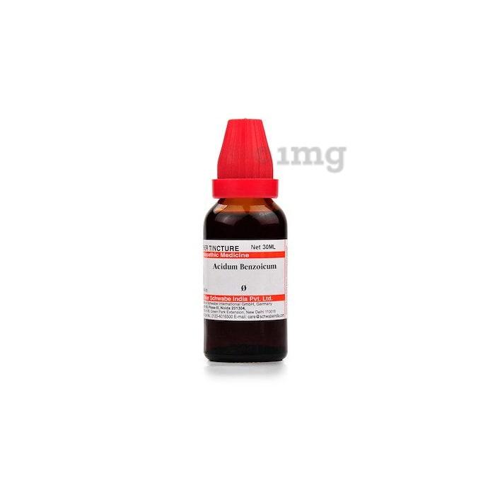 Dr Willmar Schwabe India Acidum Benzoicum Mother Tincture Q