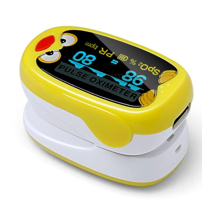 Yonker K1 Fingertip Pulse Oximeter Yellow and White