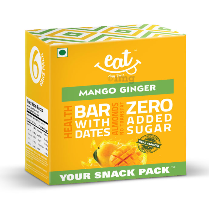 Eat Anytime Healthy Energy Bar Mango Ginger