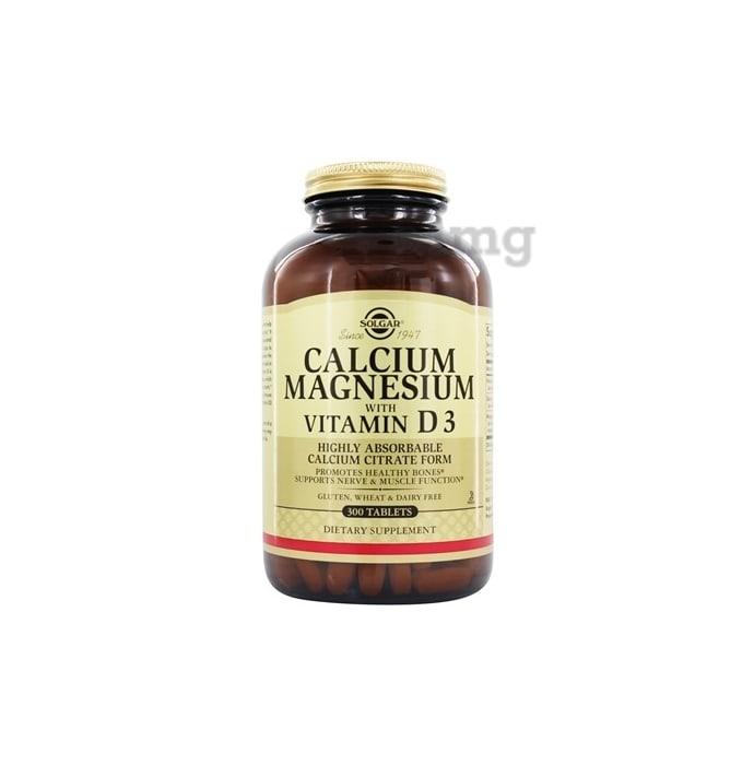 Solgar Calcium Magnesium with Vitamin D3 Tablet
