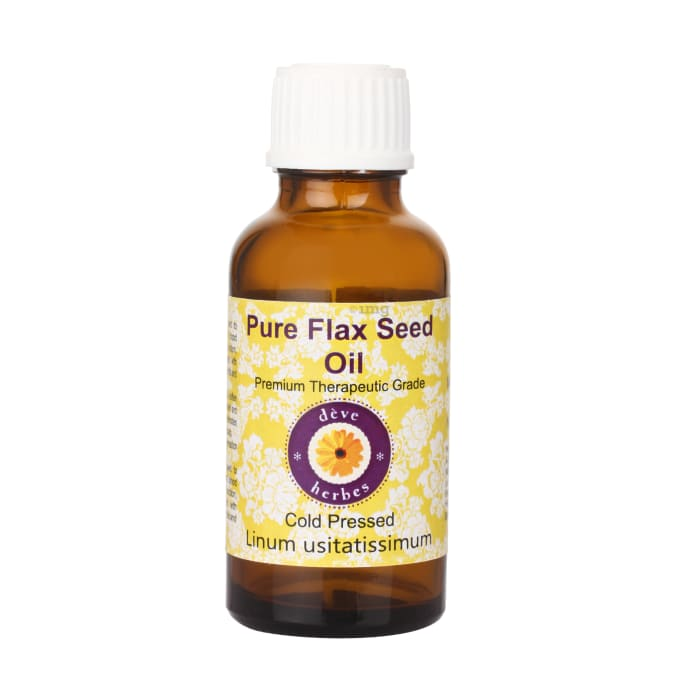 Deve Herbes Pure Flax Seed Cold Pressed Oil